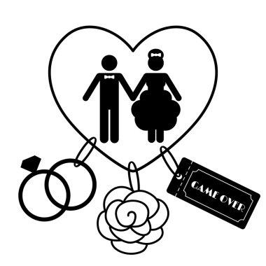 Wedding Symbols - Game Over