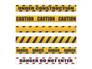 Caution tapes, Danger tapes