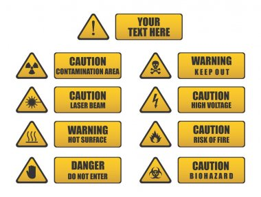 Caution, Danger, Warning signs
