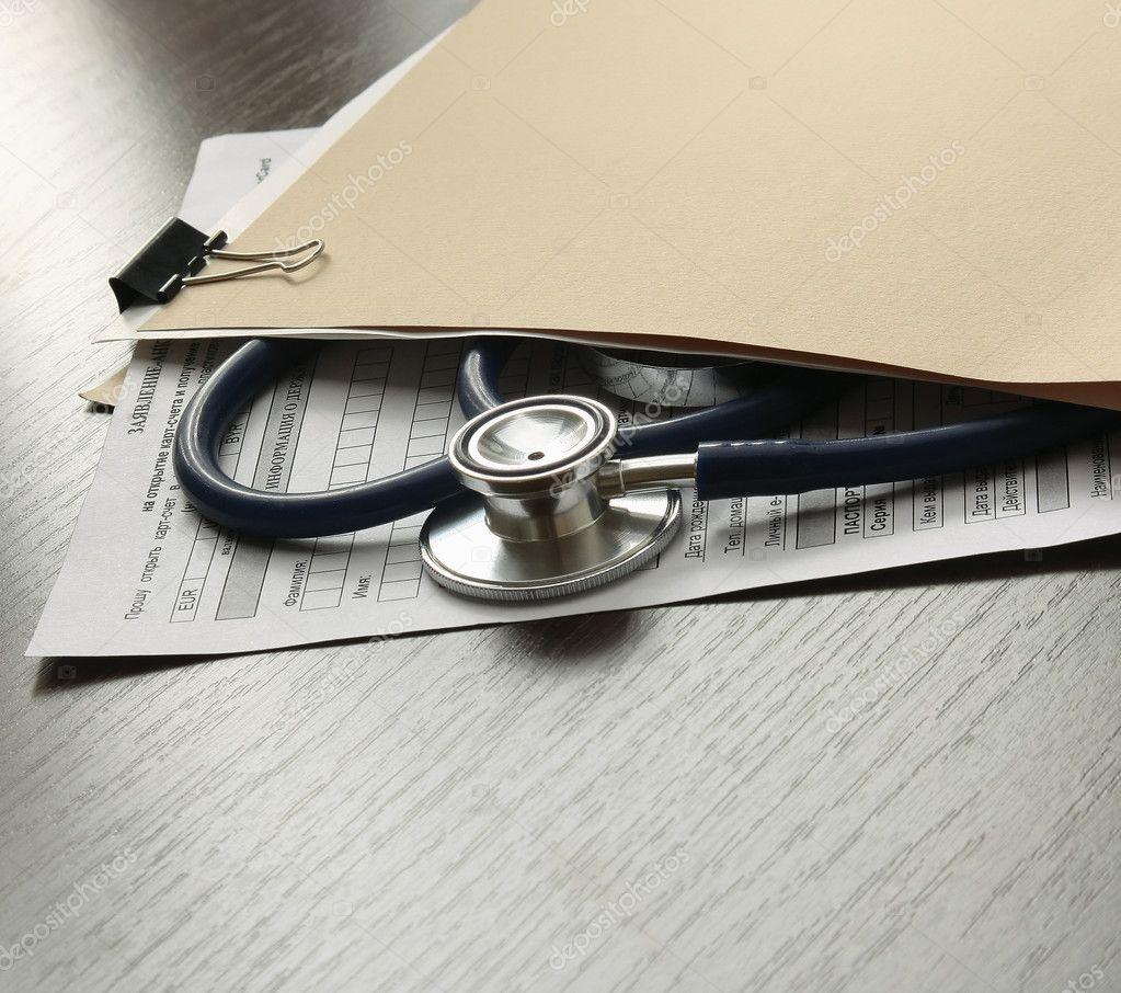 Stethoscope on medical billing