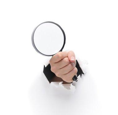Metal magnifying glass