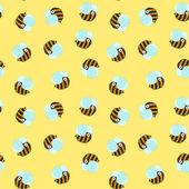 Красивый яркий фон с смешные пчел Векторное изображение  Творческий Реферат в Китае