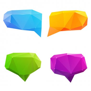 Set of abstract speech balloons