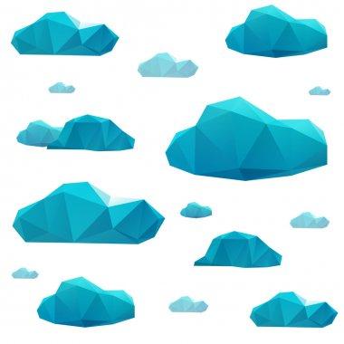 Geometric polygonal clouds