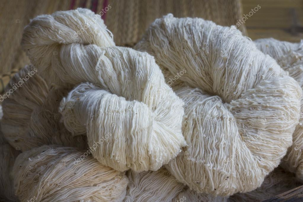 Silk from silkworm Before weaving