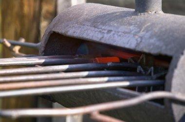 Preparing Cattle Branding Irons