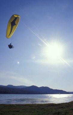 Para Glider In Flight