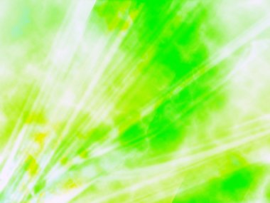 Lime Green And White Rays Of Computer Generated Design