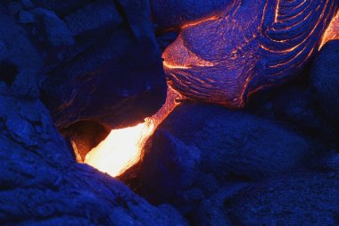 Lava in volcano