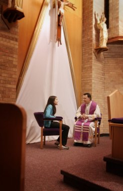 Priest With Young Woman