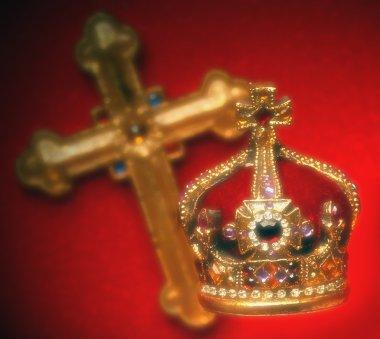 Jeweled Crown And Cross