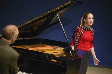 Singer Being Accompanied By Piano