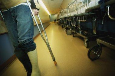 Walking Down A Hospital Hallway