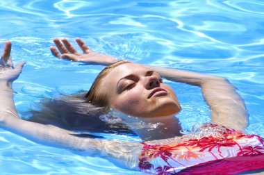 Lady Floating In Water