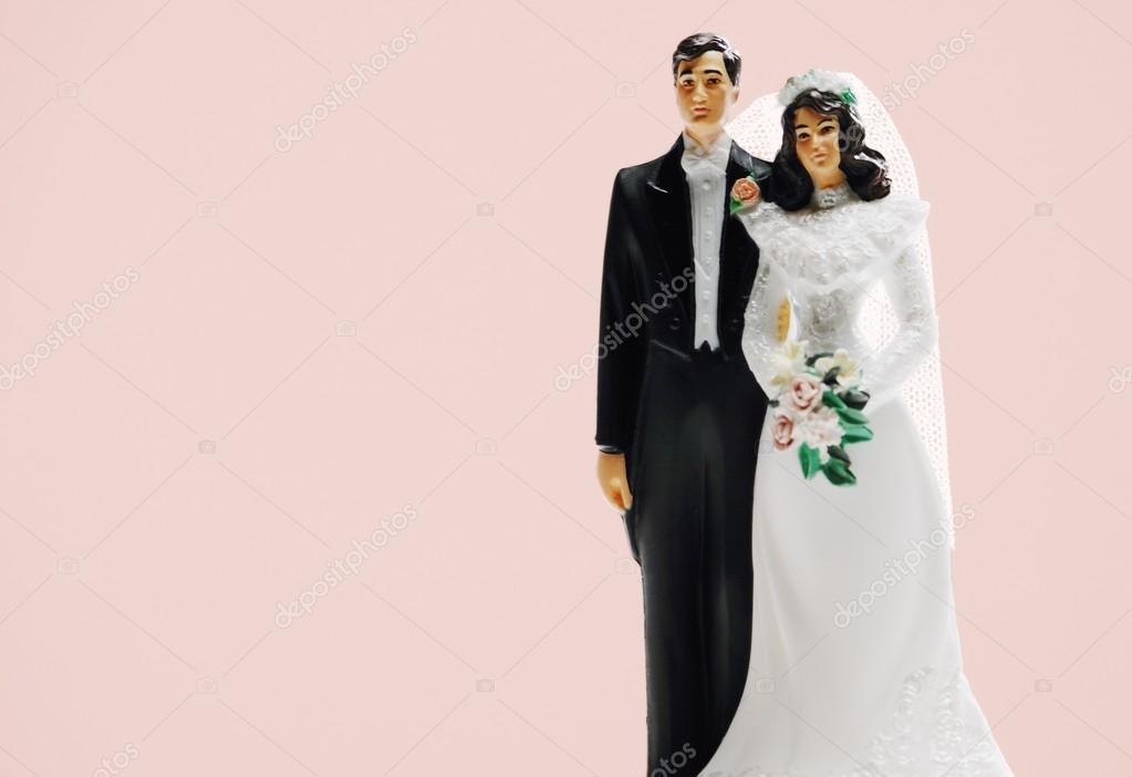 Brautpaar Hochzeitstorte Dekoration Stockfoto C Designpicsinc