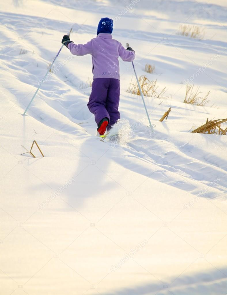 Child On Skis