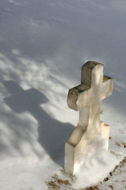 White Cross Tombstone stock vector