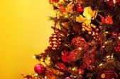 Detailní záběr na vánoční stromeček