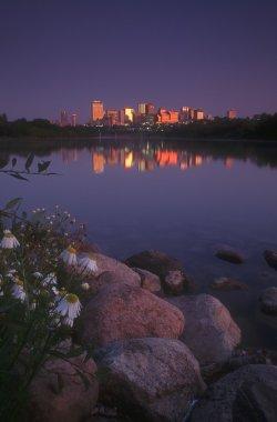 Edmonton Skyline At Dawn, Alberta, Canada