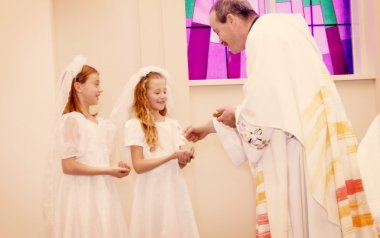 Children Take Their First Communion