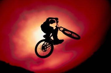Silhouette Of Trick Bike Rider
