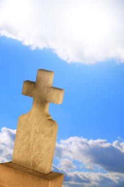 A Cross Headstone stock vector
