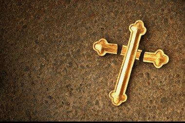 A Damaged Golden Cross stock vector