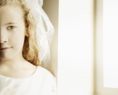 Girl With First Communion Dress
