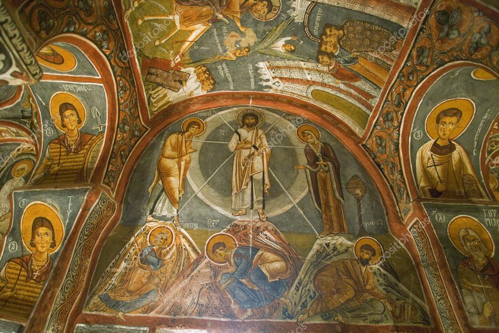 Religious Ceiling Paintings At Goreme Open Air Museum Cappadocia