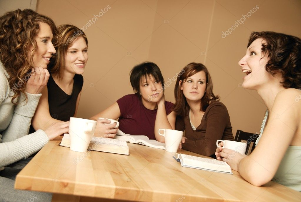 Group Of Teens Meeting Together