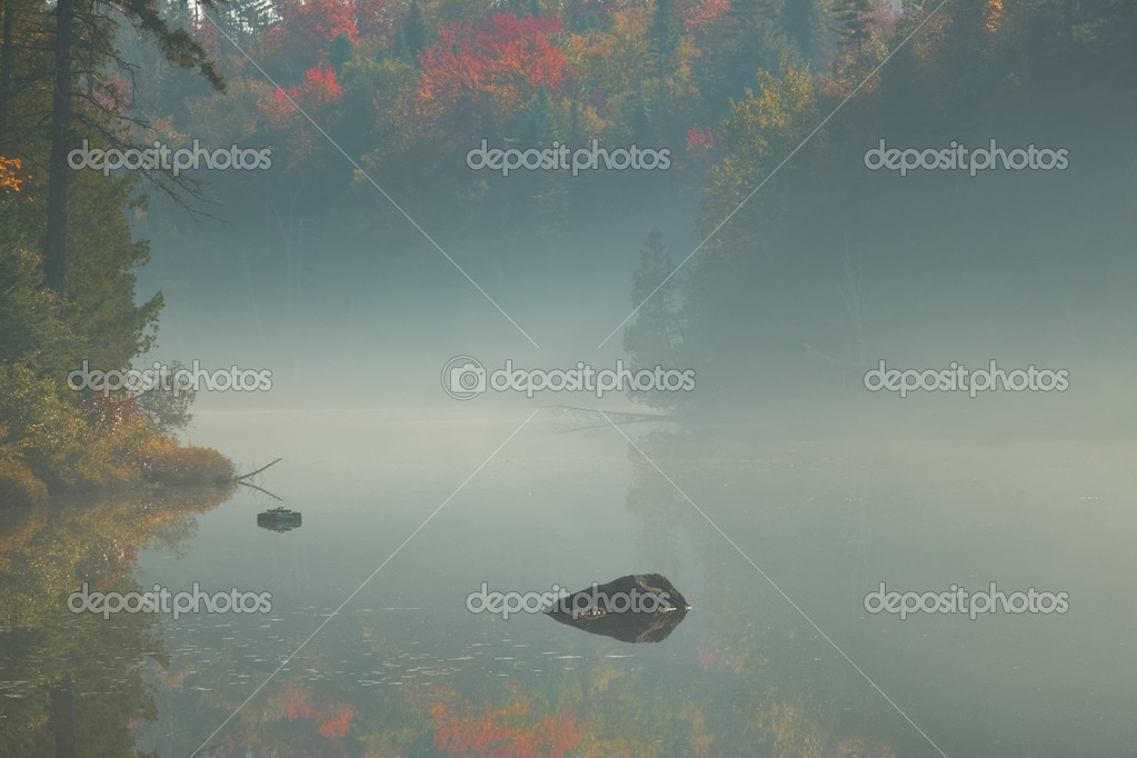 Fog Over Scenic Water