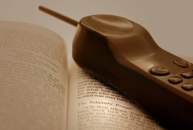 Phone And An Open Bible