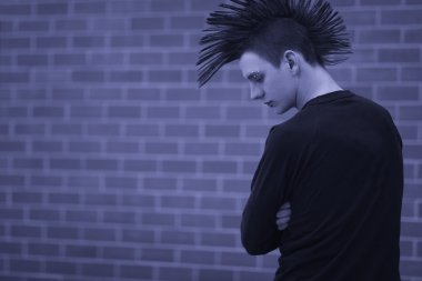 Young Man With Mohawk Hairstyle