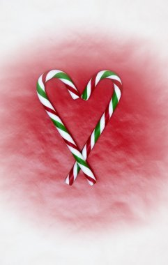 Two Heart Shaped Candy Canes