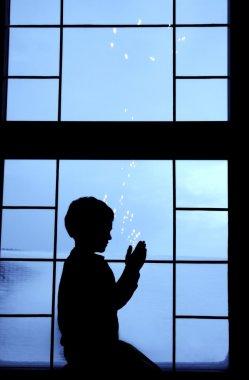 Child Silhouette Praying