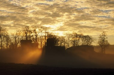 Sunrise Through Clouds