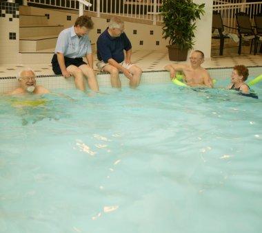 Group Of Seniors Swimming