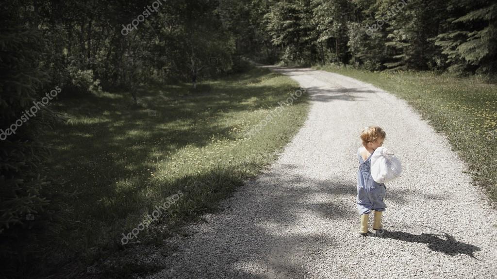 Little Boy Running Away