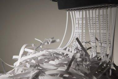 Closeup Of A Paper Shredder