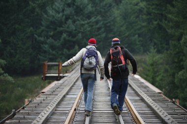 Hikers In British Columbia