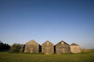 Old Prairie Farm Buildings
