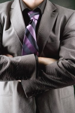 Closeup Of Man With Suit