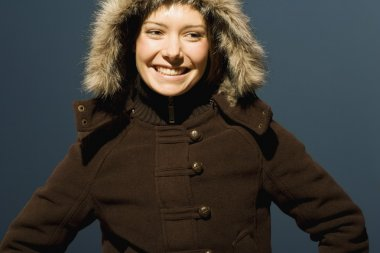 Young Woman With Winter Coat