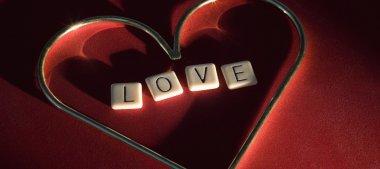 Love Spelled Inside Heart stock vector