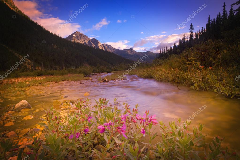 Фотообои Река Горы