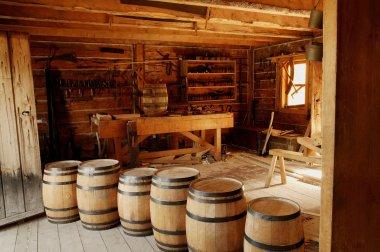 Historical Carpentry Shop In Fort Edmonton, Alberta