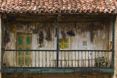 Derelict Wooden Balcony, Carmona, Cantabria, Northern Spain