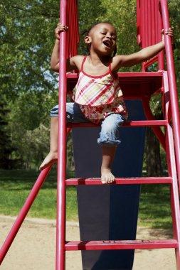 A Girl On A Slide