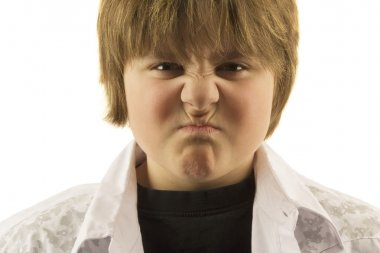 Young Boy Making Silly Face