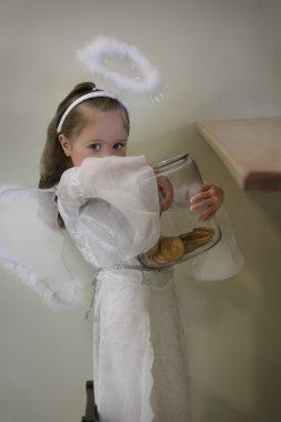 Little Angel Getting Into Mischief